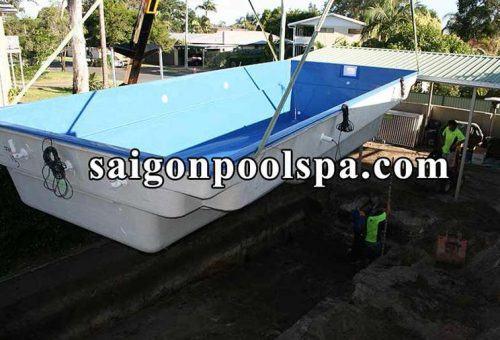 Bbể bơi composite dễ lắp ráp và di chuyển