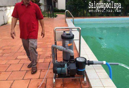 Bộ vệ sinh Hồ bơi Di động