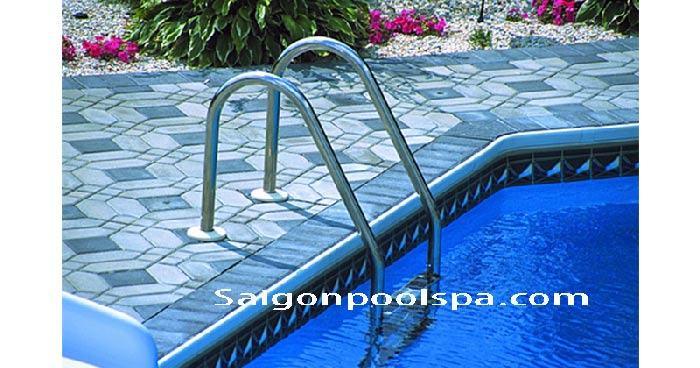 Cầu thang cho bể bơi đẹp