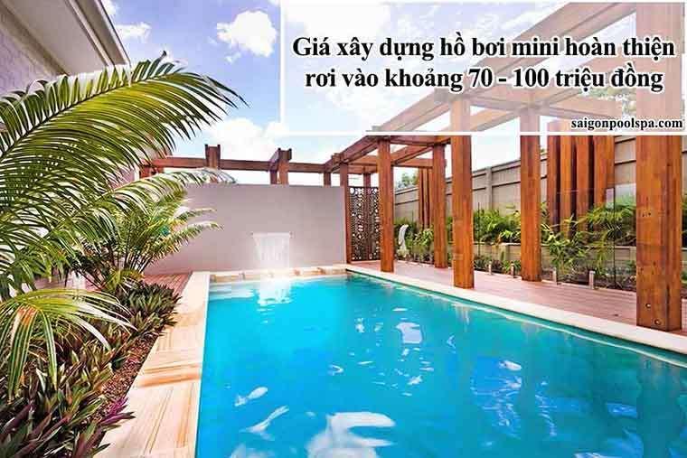 Đơn Giá Xây Hồ Bơi Vào Khoảng 70 đến 100 Triệu đồng