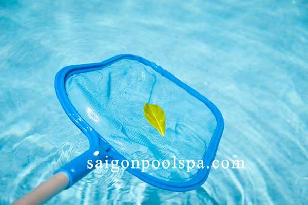Dụng cụ Vợt vớt rác lá cây hồ bơi bể bơi