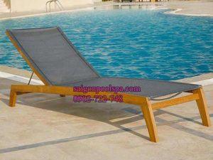 Ghế nằm ngồi bằng gỗ mây nhôm hồ bơi
