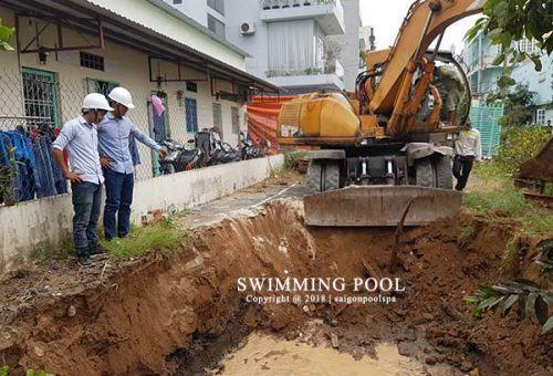 Hồ bơi gia đình anh Long - chị Hương Tp HCM