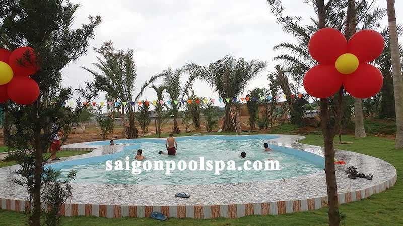 hồ bơi trường học xây dựng hoàn thiện