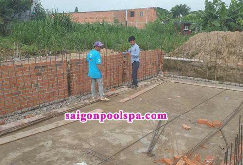 Quy trình xây dựng hồ bơi bê tông và composite