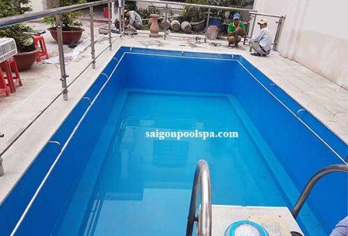Thi công cải tạo hồ bơi bằng composite ba vì quận 10