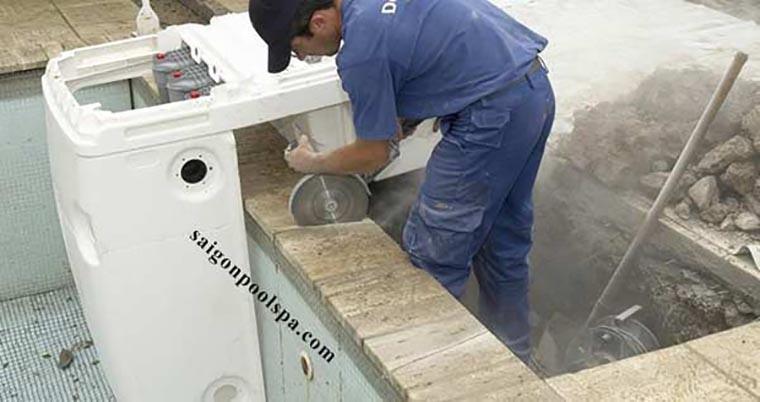 thi công lắp đặt thiết bị lọc nước hồ bơi