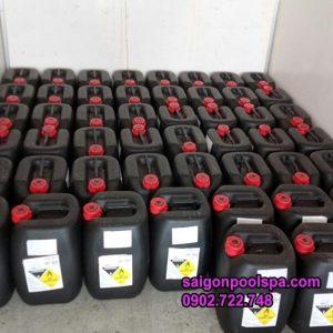 Xử lý nước hồ bơi bằng axit HCL