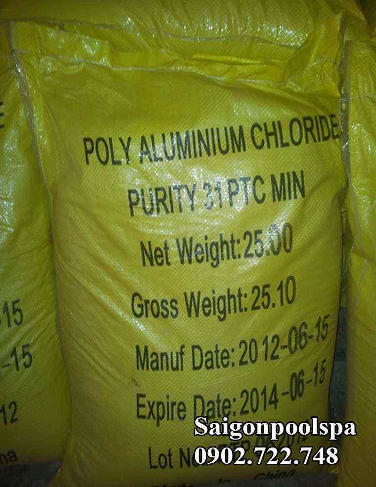 hóa chất PAC màu vàng chanh cho bể bơi