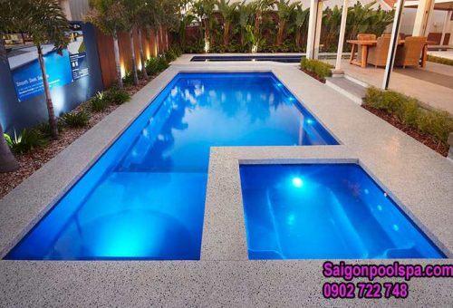 Mẫu thiết kế bể bơi mini đẹp