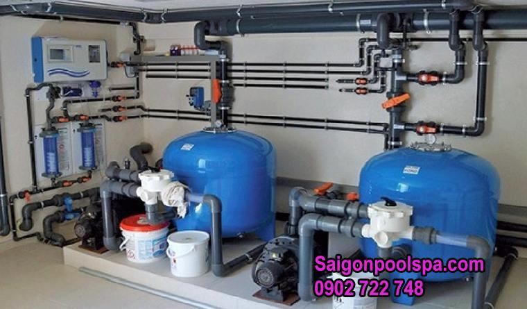Bộ đầy đủ của hệ thống máy lọc nước tuần hoàn bể bơi