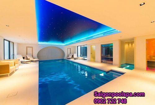 thiết kế hồ bơi trong nhà tăng thêm tính thẩm mỹ