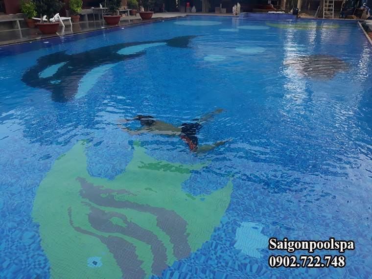 Nhà thầu thiết kế thi công hồ bơi saigonpoolspa hoàn thiện công trình đúng tiến độ