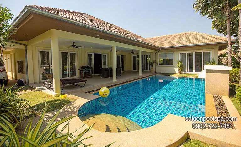 Công Trình Thi Công Hồ Bơi Gia đình Saigonpoolspa Thực Hiện