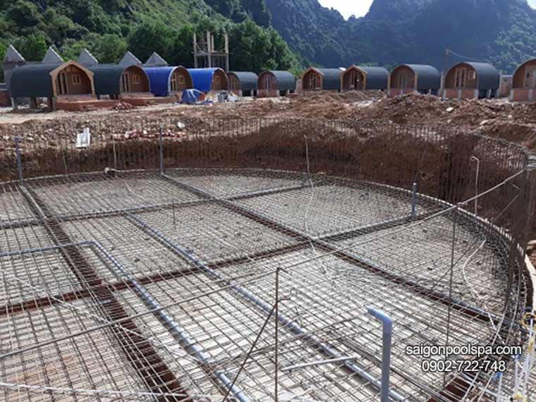 Xây dựng bể bơi tại khu nghỉ dưỡng du lịch Phong Nha -Quảng Bình