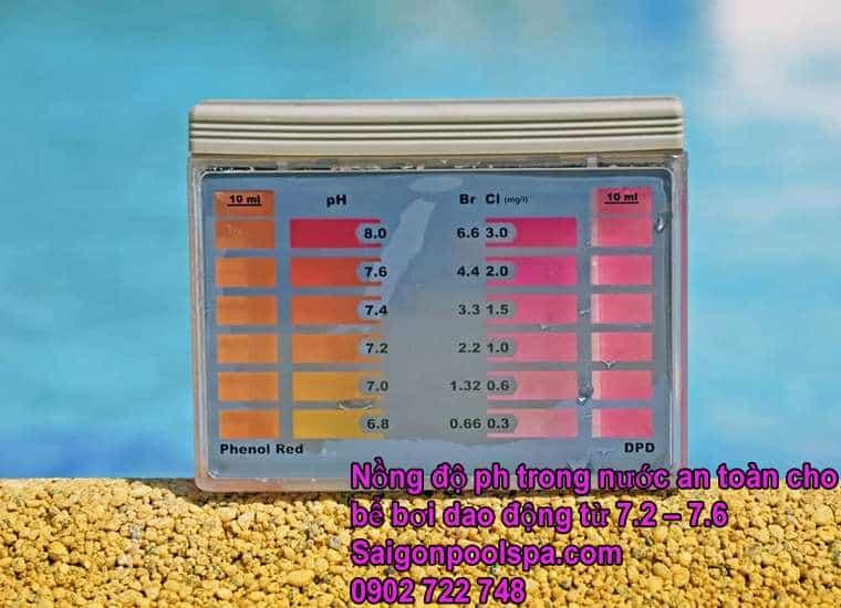 Nồng độ Ph An Toàn Cho Bể Bơi Dao động Từ 7.2 đến 7.8